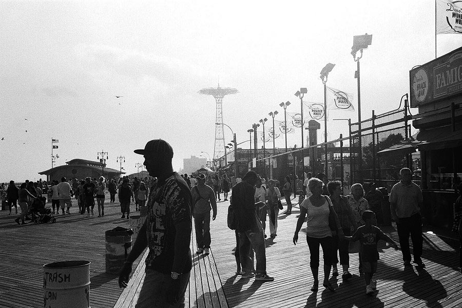 Coney Island boardwalk, NYC.